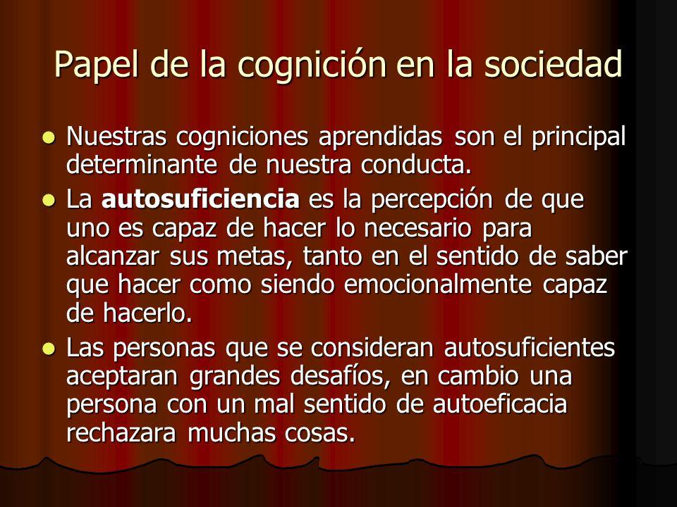Papel de la cognición en la sociedad