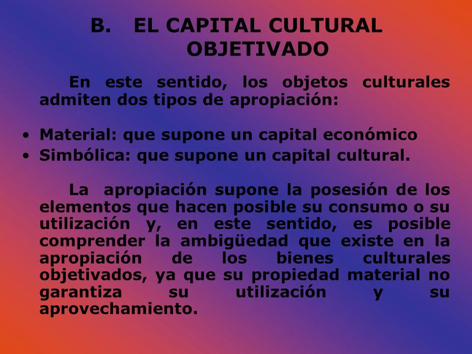 EL CAPITAL CULTURAL OBJETIVADO