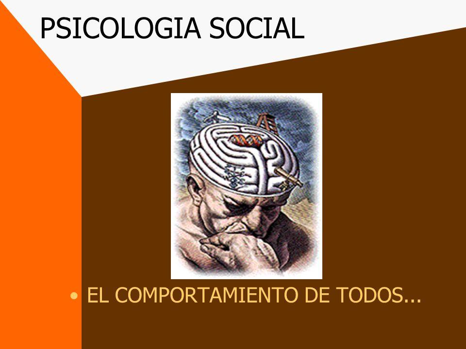 PSICOLOGIA SOCIAL EL COMPORTAMIENTO DE TODOS...