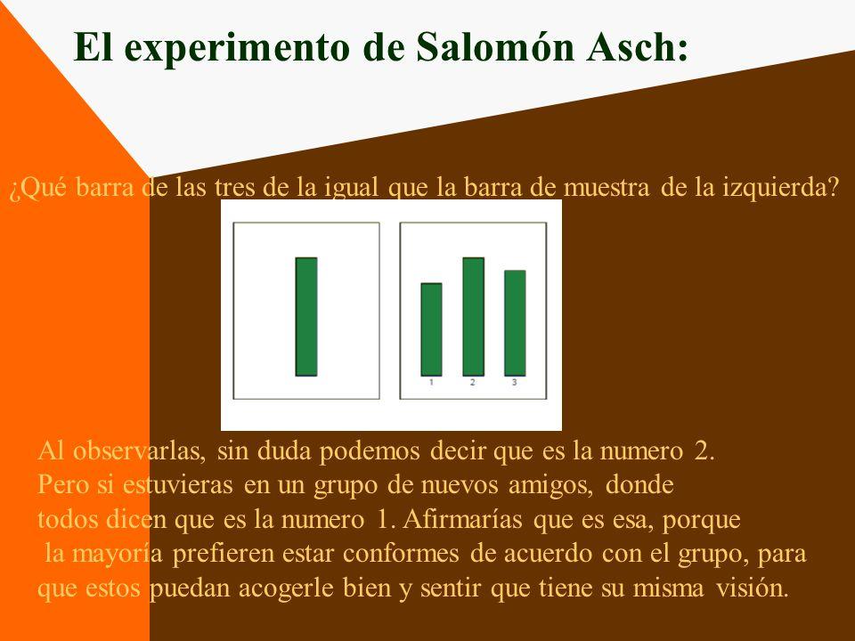 El experimento de Salomón Asch: