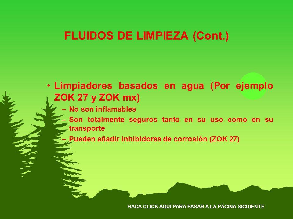FLUIDOS DE LIMPIEZA (Cont.)
