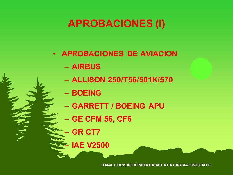 APROBACIONES (I) APROBACIONES DE AVIACION AIRBUS