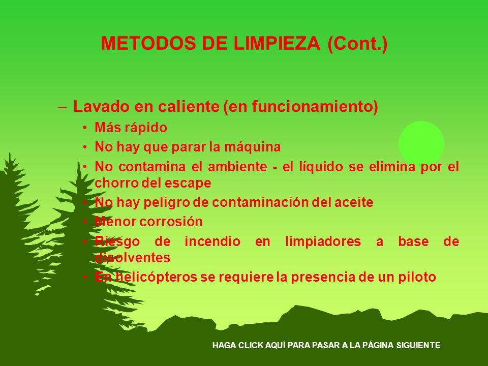 METODOS DE LIMPIEZA (Cont.)