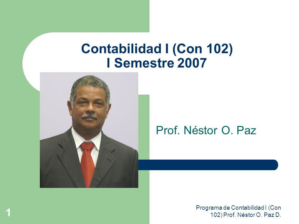 Contabilidad I (Con 102) I Semestre 2007
