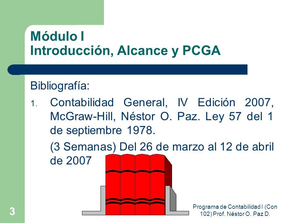 Módulo I Introducción, Alcance y PCGA