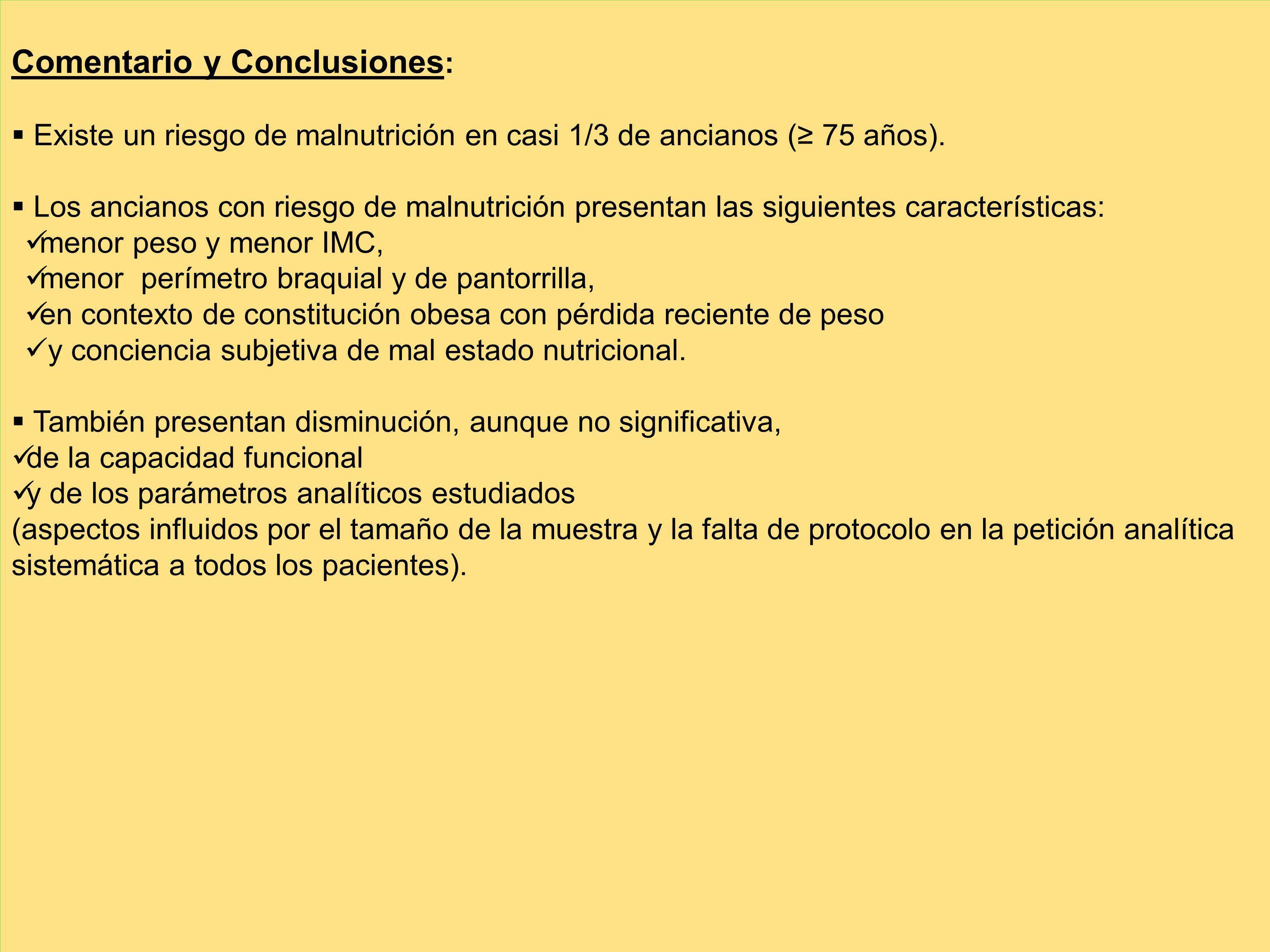 Comentario y Conclusiones: