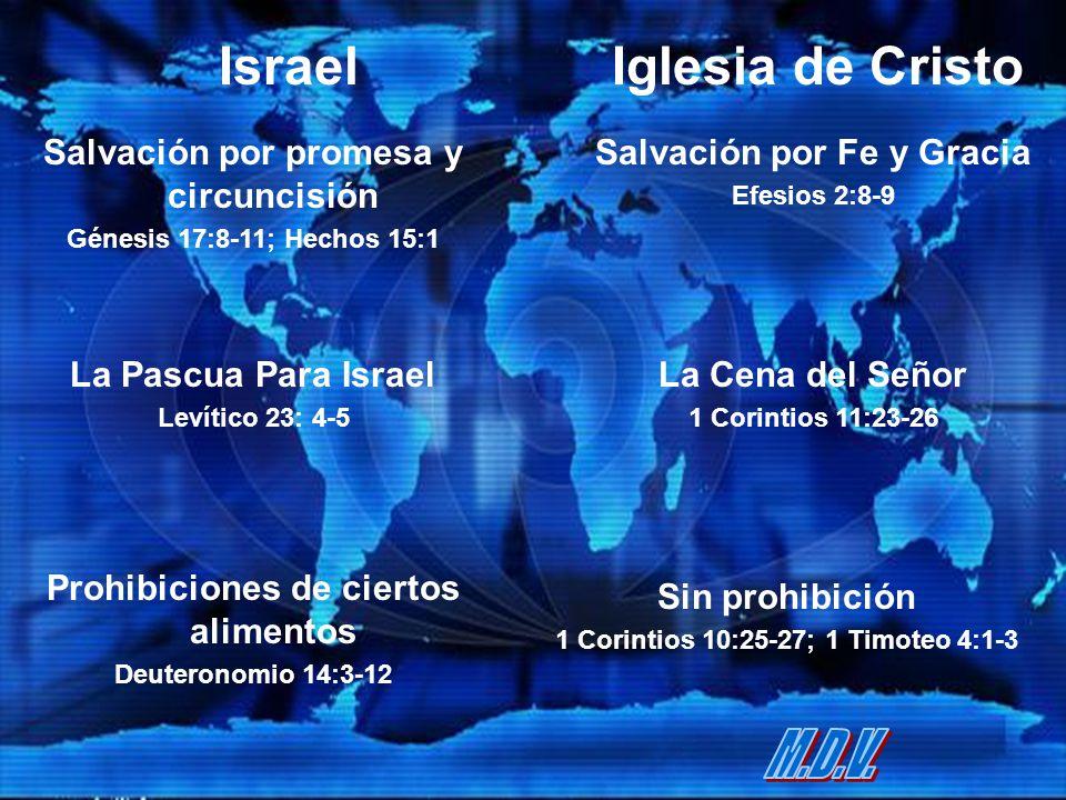Israel Iglesia de Cristo M.D.V. Salvación por promesa y circuncisión