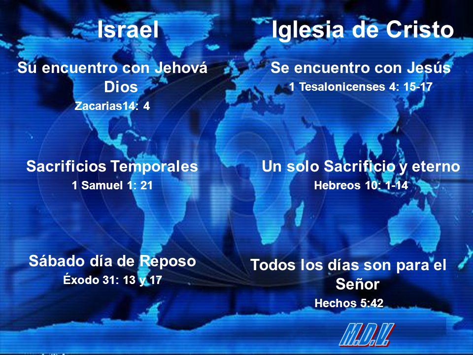 Israel Iglesia de Cristo M.D.V. Su encuentro con Jehová Dios