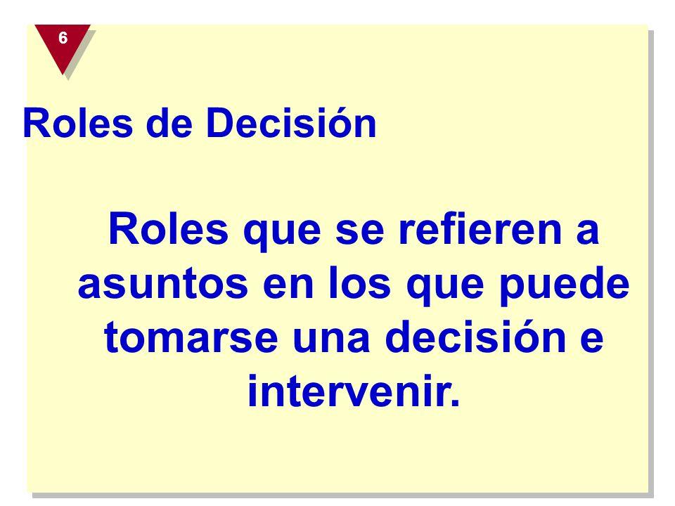 6 Roles de Decisión.