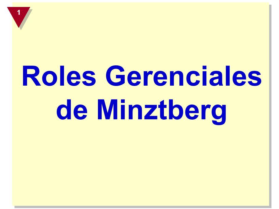 Roles Gerenciales de Minztberg