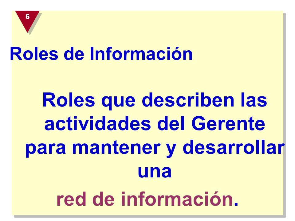 red de información. Roles de Información