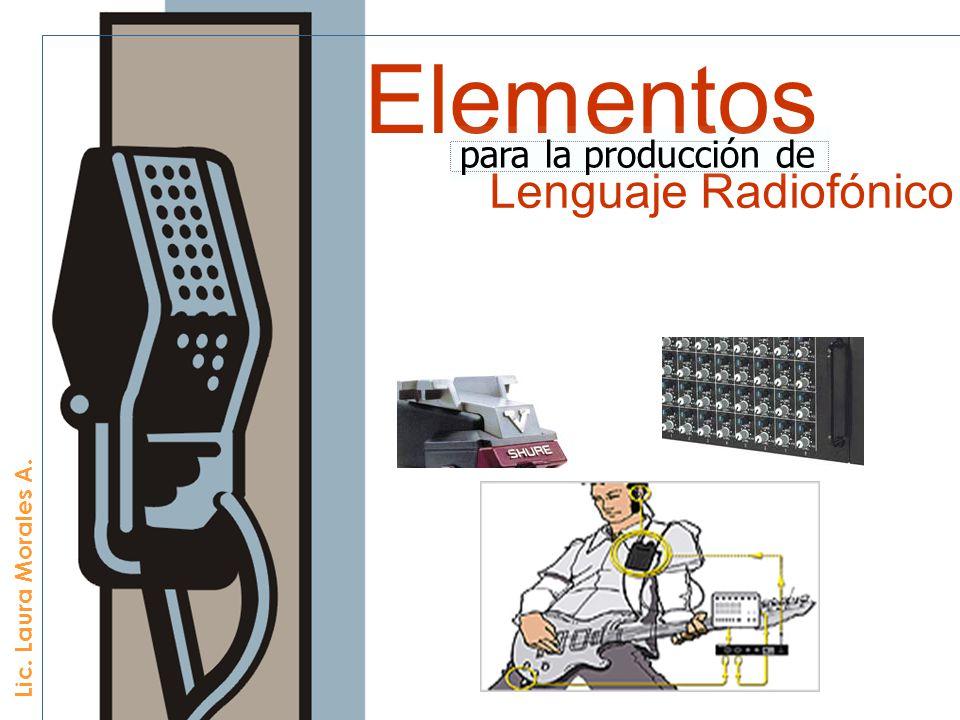 Elementos Lenguaje Radiofónico para la producción de