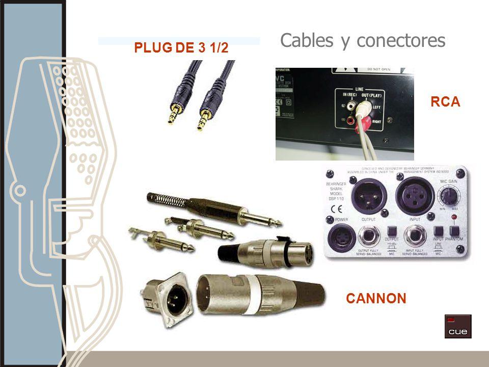 Cables y conectores PLUG DE 3 1/2 RCA CANNON