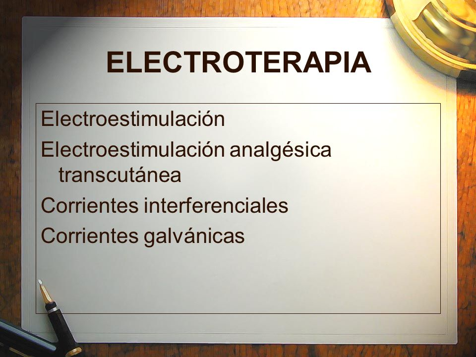 ELECTROTERAPIA Electroestimulación