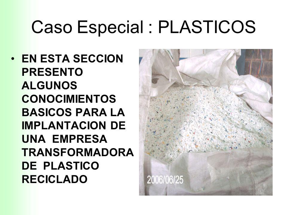 Caso Especial : PLASTICOS