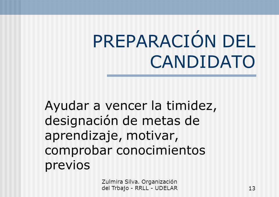 PREPARACIÓN DEL CANDIDATO