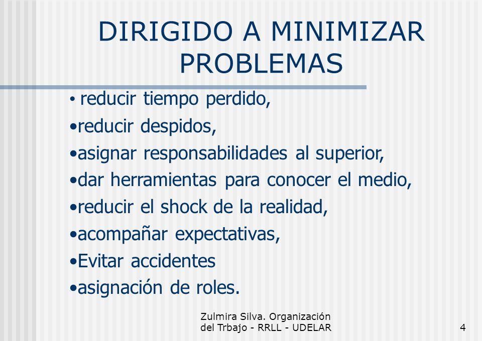 DIRIGIDO A MINIMIZAR PROBLEMAS