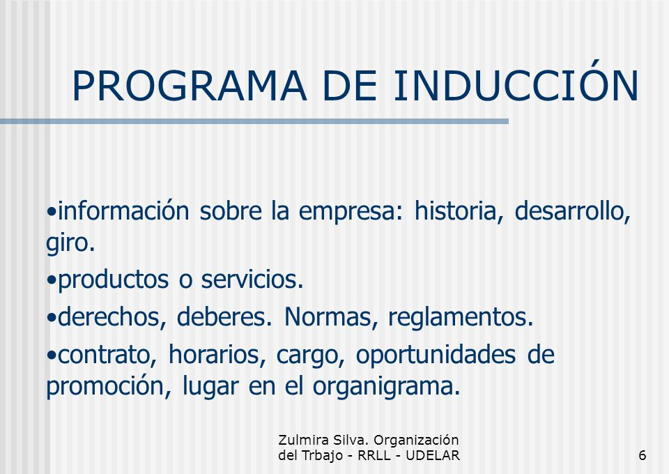 Zulmira Silva. Organización del Trbajo - RRLL - UDELAR