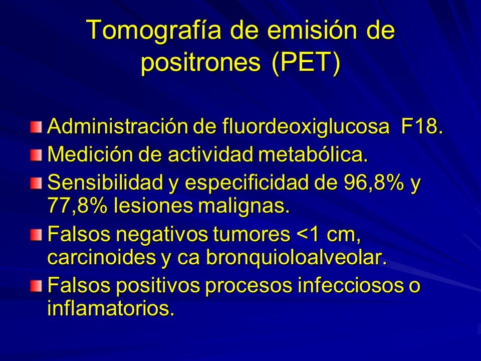 Tomografía de emisión de positrones (PET)