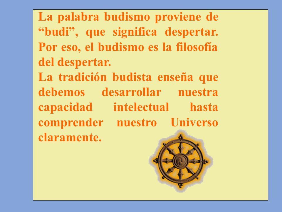 La palabra budismo proviene de budi , que significa despertar