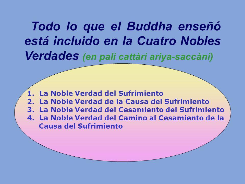 Todo lo que el Buddha enseñó está incluido en la Cuatro Nobles Verdades (en pali cattàri ariya-saccàni)