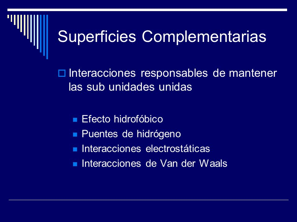 Superficies Complementarias