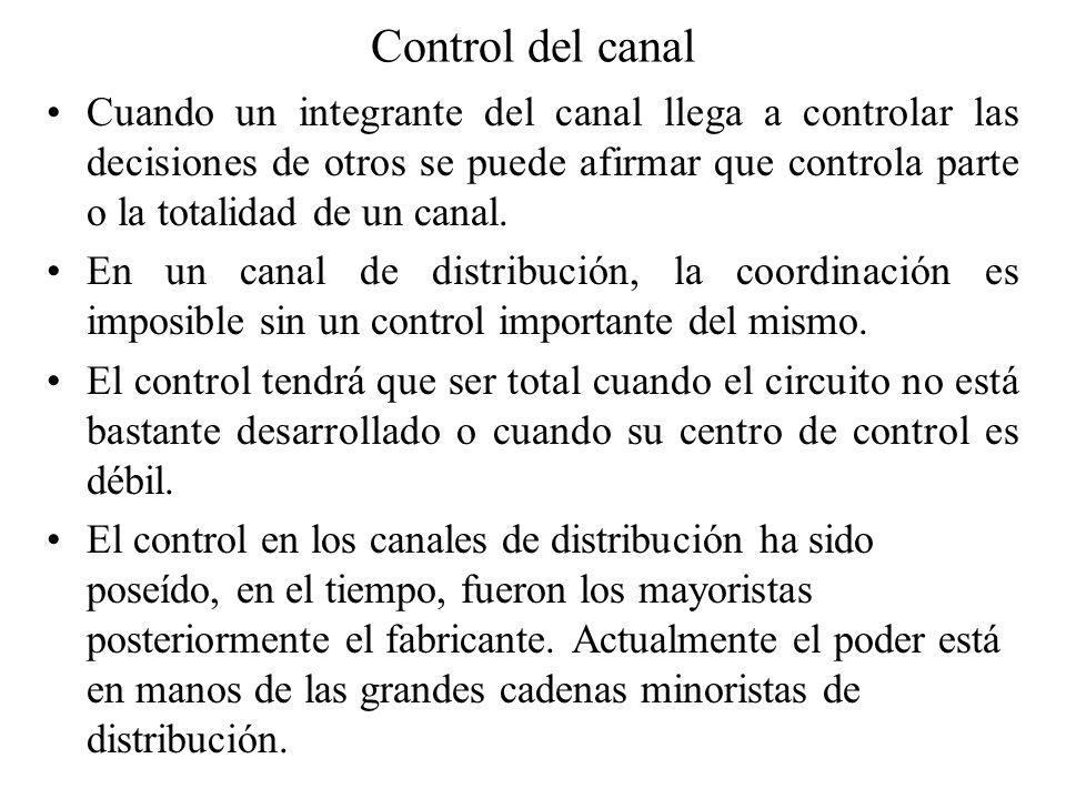 Control del canal