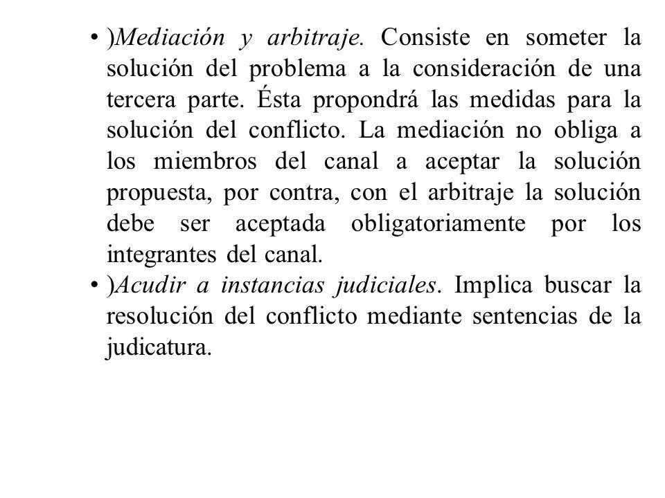 )Mediación y arbitraje