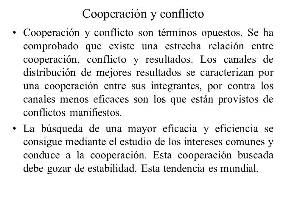 Cooperación y conflicto