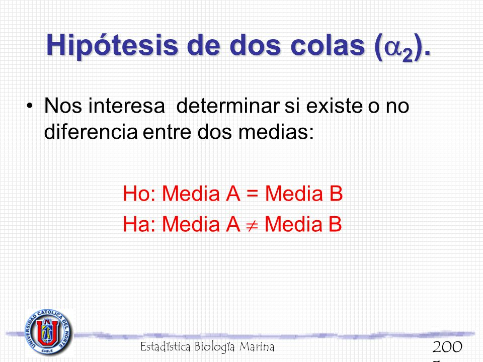 Hipótesis de dos colas (2).
