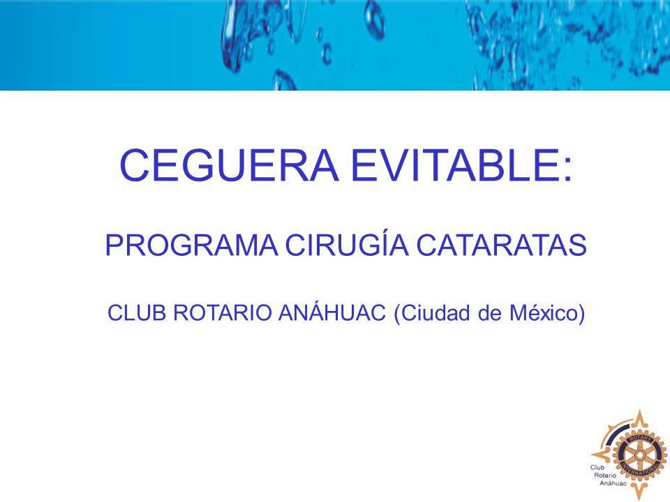 CEGUERA EVITABLE: PROGRAMA CIRUGÍA CATARATAS