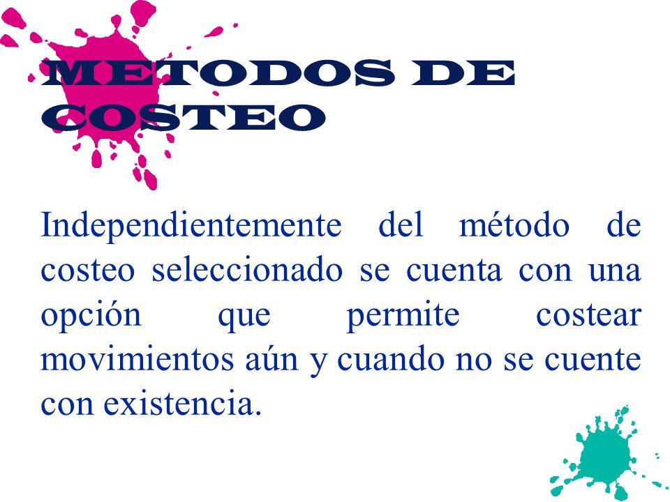 METODOS DE COSTEO