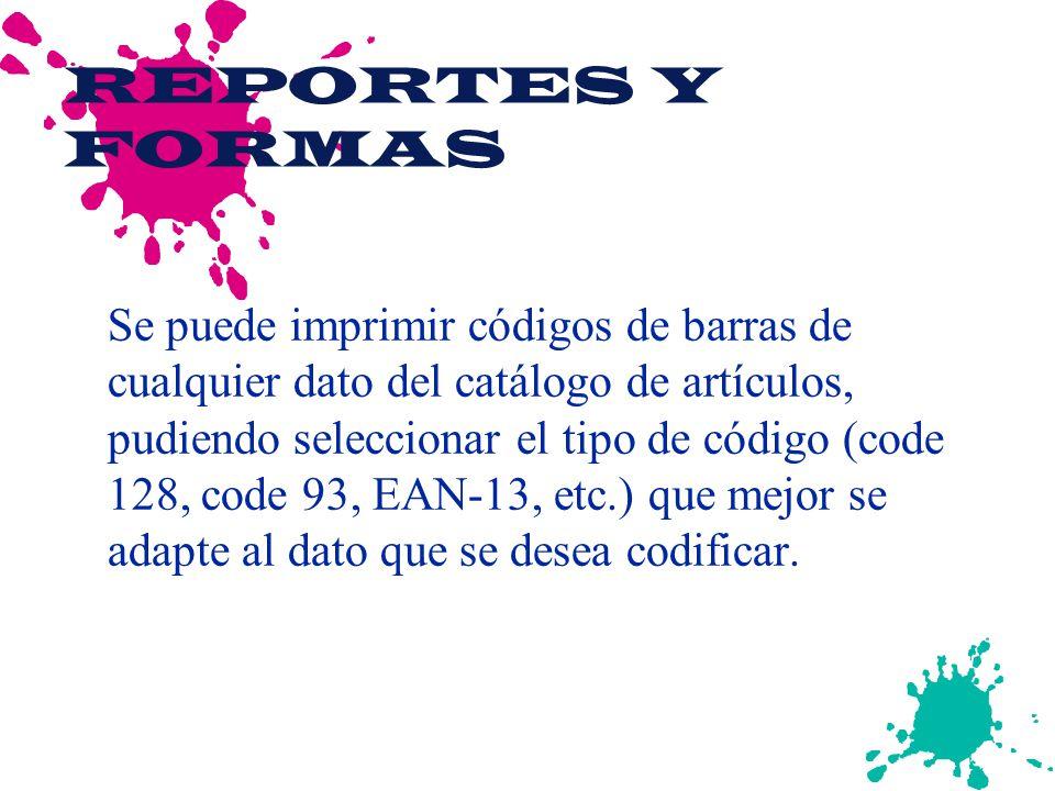REPORTES Y FORMAS