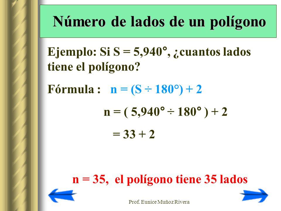Número de lados de un polígono