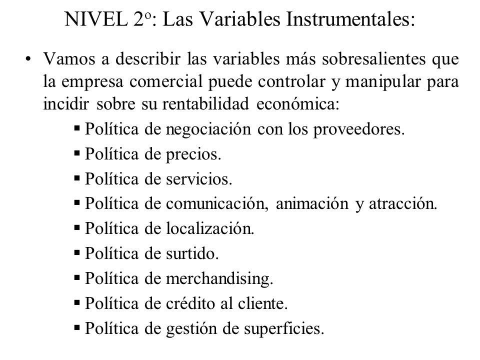 NIVEL 2o: Las Variables Instrumentales: