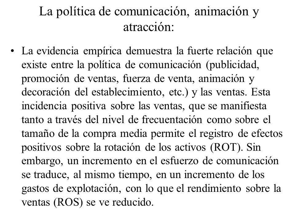 La política de comunicación, animación y atracción: