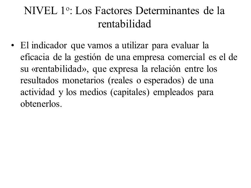 NIVEL 1o: Los Factores Determinantes de la rentabilidad