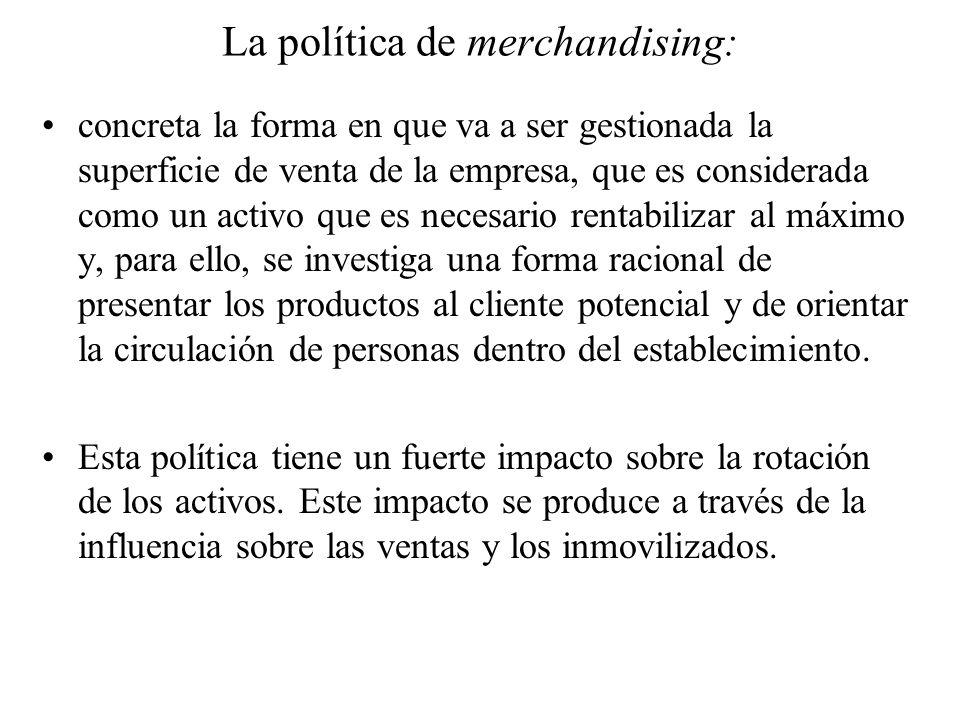 La política de merchandising: