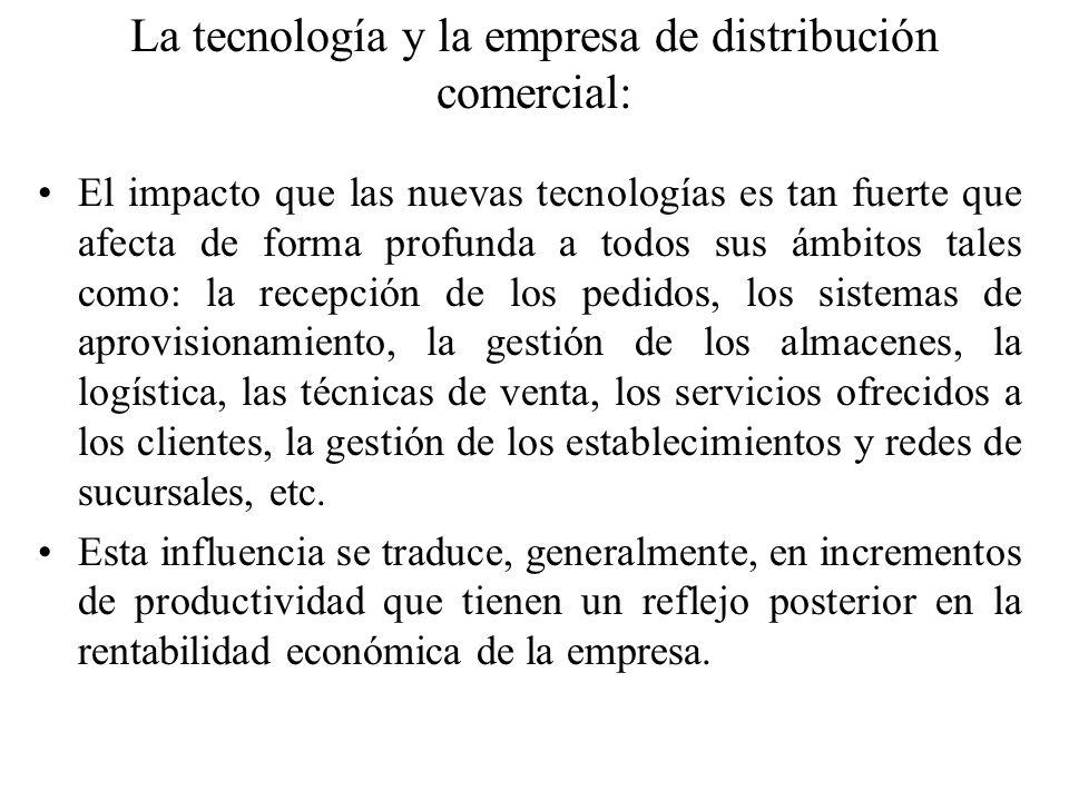 La tecnología y la empresa de distribución comercial: