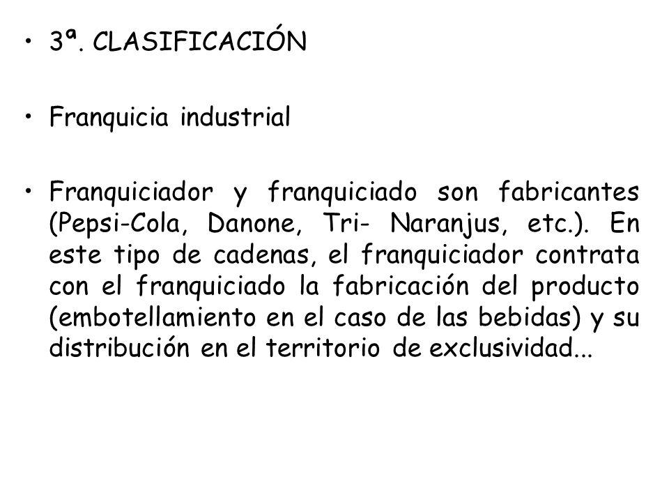3ª. CLASIFICACIÓN Franquicia industrial.