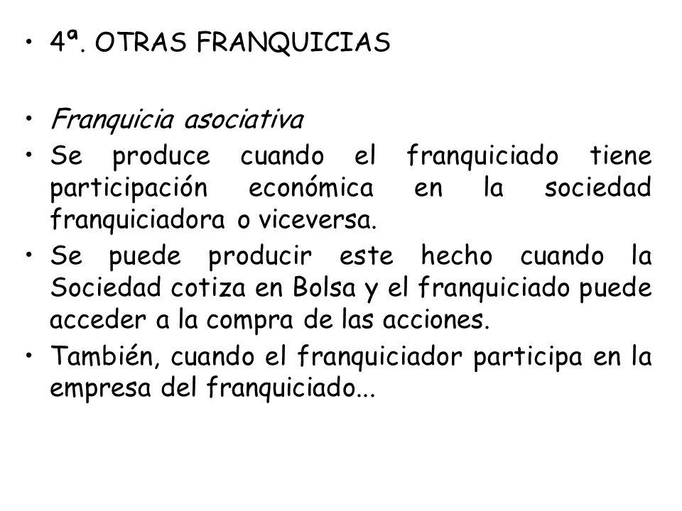 4ª. OTRAS FRANQUICIAS Franquicia asociativa.