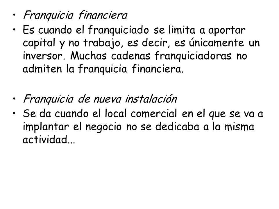 Franquicia financiera