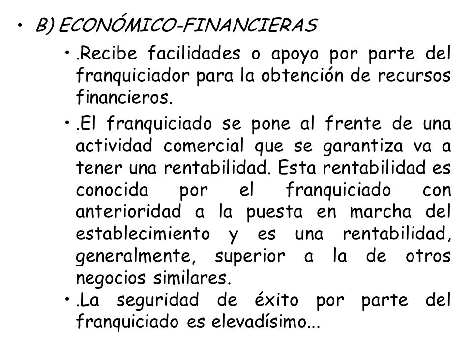 B) ECONÓMICO-FINANCIERAS