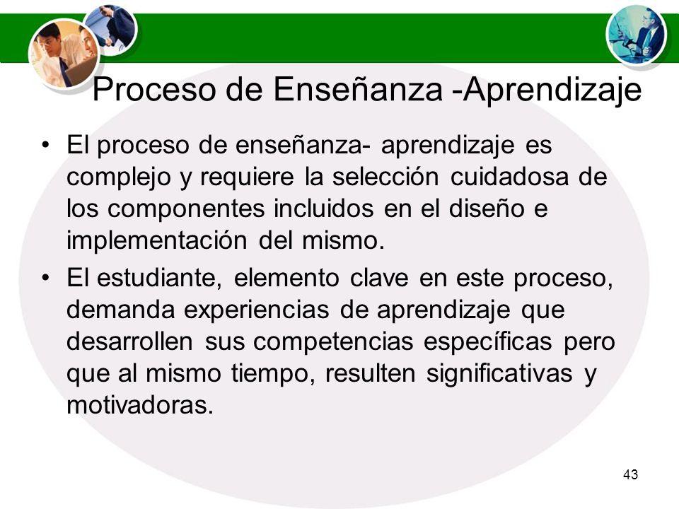 Proceso de Enseñanza -Aprendizaje