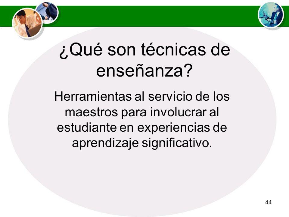 ¿Qué son técnicas de enseñanza