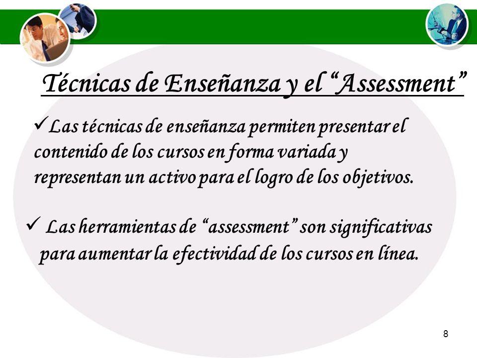 Técnicas de Enseñanza y el Assessment