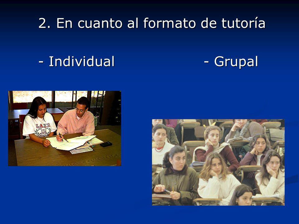 2. En cuanto al formato de tutoría