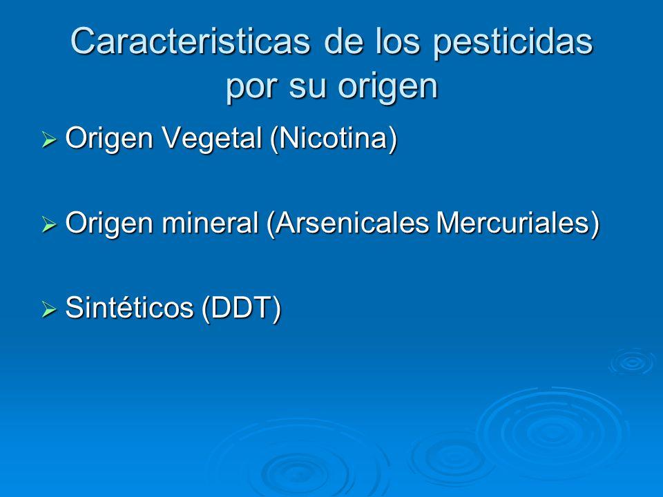 Caracteristicas de los pesticidas por su origen