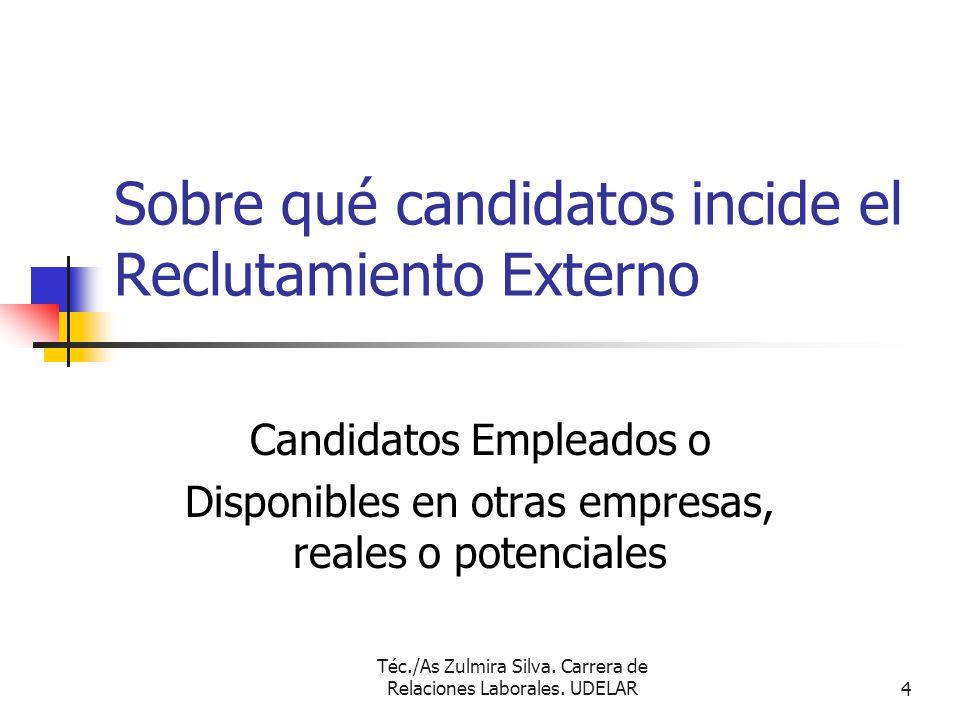Sobre qué candidatos incide el Reclutamiento Externo