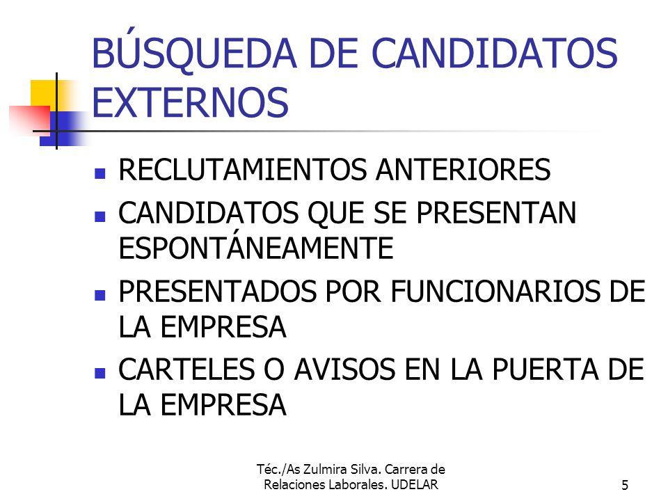 BÚSQUEDA DE CANDIDATOS EXTERNOS